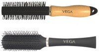 Vega Round And Roll Brush H3-Rb With Flat Brush E5-Fb N (Set Of 2)