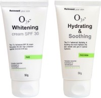 O3+ Hydrating & Soothing Face Wash & Whitening - SPF 30 Combo No-2 (Set Of 2)