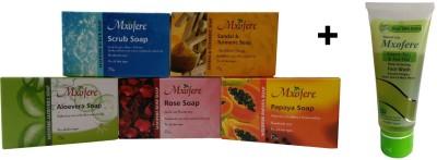 Mxofere Combos and Kits Mxofere Combo Scrub Sandal Turmeric Aloevera Rose Papaya Soap Kit