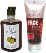 Oxyglow Combos and Kits Oxyglow Amla & Shikakai Hair Toinc & Strawberry Face Wash