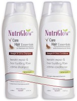 NutriGlow Straight N Shine Shampoo & ConditionerCombo - For All Hair Types (Set Of 2)