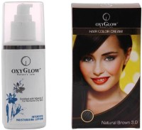 Oxyglow Intensive Moisturizing Lotion & Hair Colour Cream-Brown (Set Of 2)