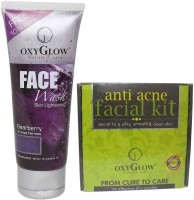 Oxyglow Bearberry Face Wash & Anti Acne Facial Kit (Set Of 2)