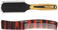 Vega Flat Brush E2-Fb With Womenen'S Dressing Comb Hmc-07 (Set Of 2)