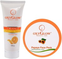 Oxyglow Orange Peel Of Mask & Papaya Face Pack (Set Of 2)