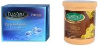 Clear Face Diamond Facial Kit With 24 Carat Gold Face Pack (Set Of 2)