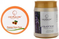 Oxyglow Papaya Face Pack & Liquorice Mud Pack (Set Of 2)