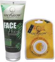 Oxyglow Neem & Tulsi Face Wash & Lip Balm (Set Of 2)