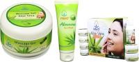 Pavo Aloe Vera Facial Kit & Face Wash & Massage Gel (Set Of 3)