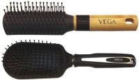 Vega Premium Flat Hair Brush E8-Fb With Premium Collection Cushioned Brush E7-Cb (Set Of 2)