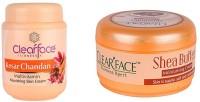 Clear Face Kesar Chandan Nourishing Skin Cream With Shea Butter Moisturising Cream (Set Of 2)