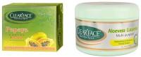 Clear Face Papaya Facial Kit With Aloevera Cucumber Multi Purpose Facial Cream (Set Of 2)