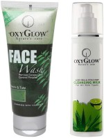 Oxyglow Combos and Kits Oxyglow Neem & Tulsi Face Wash & Aleo Vera & Citrus Deep Cleansing Milk