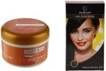 Oxyglow Combos and Kits Oxyglow Lacto Bleach & Hair Colour Cream Brown