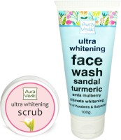 Auravedic Ultra Whitening Face Wash & Scrub (Set Of 2)