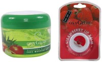 Oxyglow Aleo Vera & Apple Face Massage Gel & Lip Balm (Set Of 2)