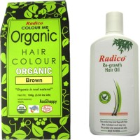 RADICO BROWN WITH RE GROWTH HAIR OIL (Set Of)