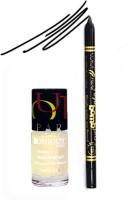 Bonjour Paris Color Fever 915 Black Pro Kajal+White Nail Polish (Set Of 2)