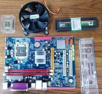 Intel Core 2 Due Ram 2GB Complete Kit Combo Motherboard (Green)