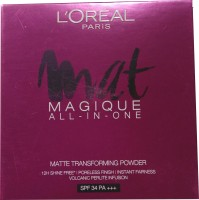 L'Oreal Paris Mat Magique All-In-One N2 Nude Vanilla Compact  - 6 G (Beige)