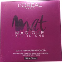 L'Oreal Paris Mat Magique All-In-One G7 Golden Amber Compact  - 6 G (Beige)