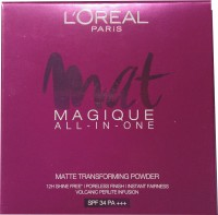 L'Oreal Paris Mat Magique All-In-One N6 Nude Honey Compact  - 6 G (Beige)