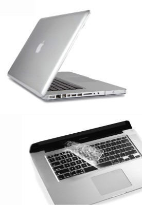 Pindia Transparent Crystal Finish Apple Macbook Pro 13 13.3 inch Md101hn/A Md101ll/A Hard Case Shell Cover Keyboard