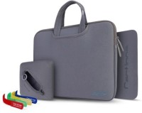 Cartinoe Grey Cartinoe Breath Series Zipper Sleeve Pouch For Macbook Pro 15.4 Inch, Size: 36 X 27cm Combo Set