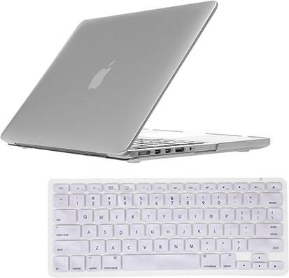 Saco MacBook 11.6 Air Silver Case With Keyboard Skin Combo Set