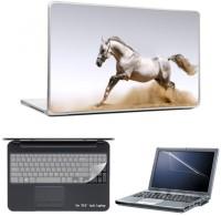 Skin Yard Beautiful Running Horse Laptop Skins With Laptop Screen Guard & Laptop Keyguard -15.6 Inch Combo Set