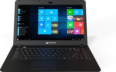 Micromax Ignite LPQ61 Pentium Quad Core - (4 GB/1 TB HDD/Windows 10) Notebook LPQ61408W (14 inch, Black)