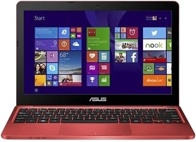 Asus EeeBook X205TA 90NL0734-M07250 Bay Trail-T Quad Core - (2 GB DDR3/32 GB EMMC HDD/Windows 8.1) Netbook (11.49 inch, Red)
