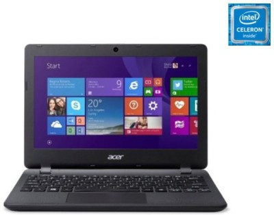 Acer ES1-131-C8RL E Series ES1-131-C8RL NX.MYKSI.009 Celeron Dual Core - (2 GB DDR3/500 GB HDD/Windows 10) Netbook (11.6 inch, Diamond Black)