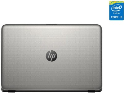 HP 15-ac033TX (NotebooK) (Core i5 (5th Gen)/ 4GB/ 1TB/ Win8.1/ 2GB Graph) (M9V13PA) (15.6 inch, Turbo SIlver Color With Diamond & Cross Brush Pattern)