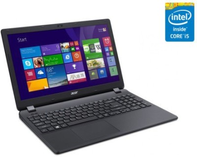 Acer Aspire E5 E5-573-587Q NX.MVHSI.068 Core i5 (4th Gen) - (4 GB DDR3/1 TB HDD/Linux/128 MB Graphics) Notebook