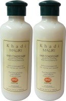 Khadi Mauri Hair Conditioner Herbal Pack Of 2 Ayurvedic & Natural 210 Ml Each (420 Ml)