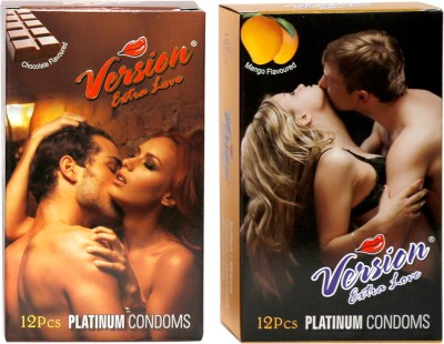 Version Extra Love Platinum Combos of Chocolate and Mango Flavour Condom