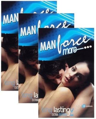 Manforce More Long Lasting Monthly Combo Condom Set of 3, 10S