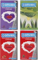 Convex Monthly Pack Special Combo Dotted : Aloevera, Prolonger : Blueberry, Strawberry, Redcurrant
