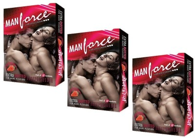 Manforce Extra Dotted Strawberry Flavoured Condom