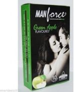Manforce Green Apple Flavoured 10'S Pack x 10