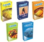 Carex Powershot, Rough & Tough, Gold, Assorted Flavours and Super Thin