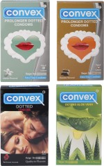 Convex Monthly Pack Special Combo Dotted : Redcurrant, Aloevera, Prolonger : Jasmin, Chocolate
