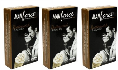 Manforce Butter Scotch Extra Dotted 30pc