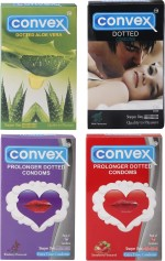Convex Monthly Pack Special Combo Dotted : Mint, Aloevera, Prolonger : Strawberry, Blueberry