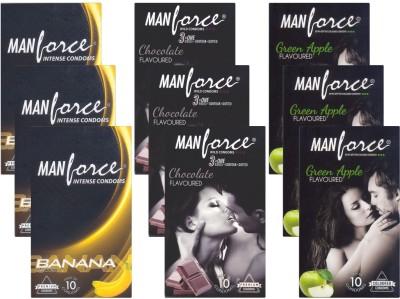 Manforce Banana, Chocolate, GreenApple - CPFK2137 Condom at flipkart