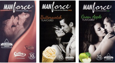 Manforce Coffee, Butterscotch, Green Apple