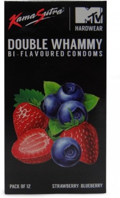 Kamasutra Double Whammy Bi Flavoured Strawberry Blueberry Pack of 12 x 5