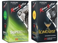 Kamasutra Superthin & Longlast 20,20 Condom (Set Of 2, 40S)