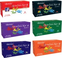 Okamoto Skinless Skin - Ultra Thin, Strawberry 1350 Dots And Multi-flavoured Condom (Set Of 6, 60S)
